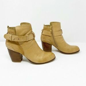 Dune London | Leather Ankle Strap Booties